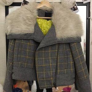 Beautiful faux fur jacket from Banana Republic.